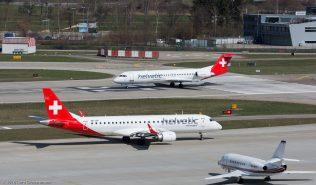 HelveticAirways_E190_HB-JVP_HelveticAirways_F100_HB-JVF_ZRH160326