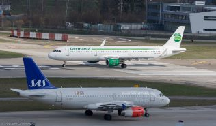 ScandinavianAirlines_A319_OY-KBR_Germania_A321_HB-JOI_ZRH160326
