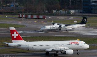 Swiss_A320_HB-JLP_AustrianAirlines_DH8D_OE-LGR_ZRH160326