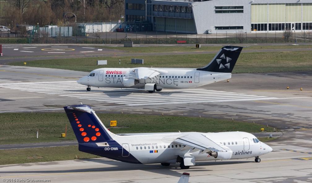 BrusselsAirlines_RJ1H_OO-DWA_Swiss_RJ1H_HB-IYU_ZRH160326