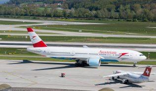 AustrianAirlines_B772_OE-LPA_Swiss_RJ1H_HB-IXT_ZRH160505