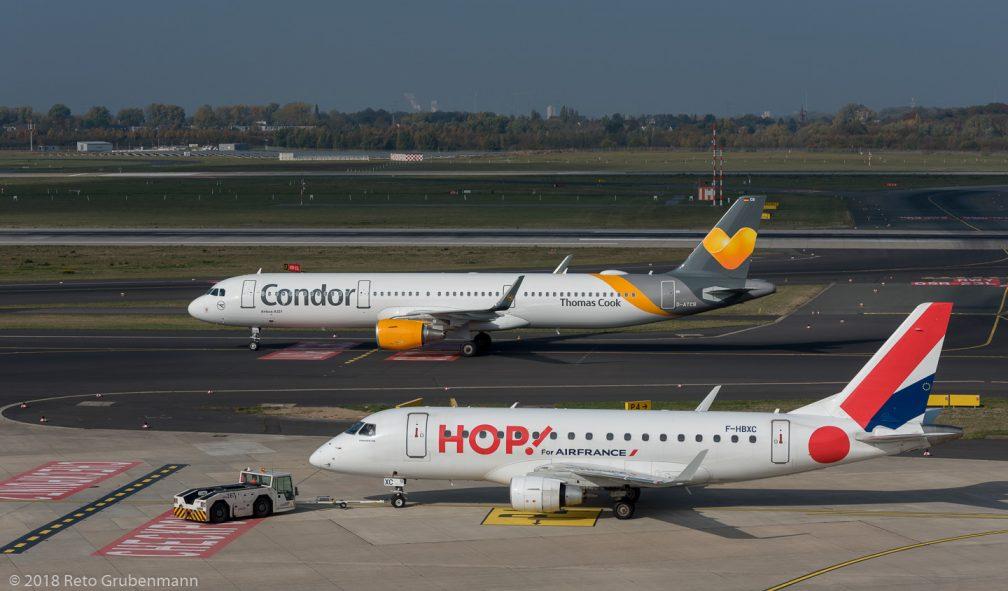 HOP_E170_F-HBXC_Condor_A321_D-ATCB_DUS181019