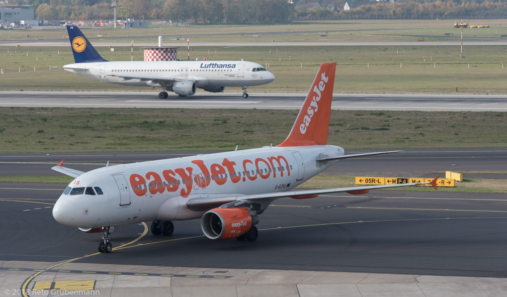 easyJet_A319_G-EZAS_Lufthansa_A320_D-AIPB_DUS181019