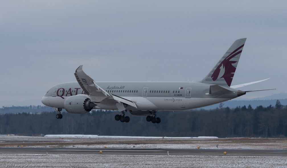 QatarAirways_B788_A7-BCM_ZRH170117
