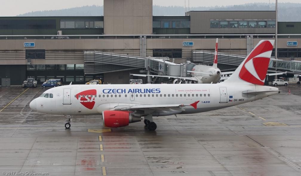 CzechAirlines_A319_OK-MEK_ZRH171204