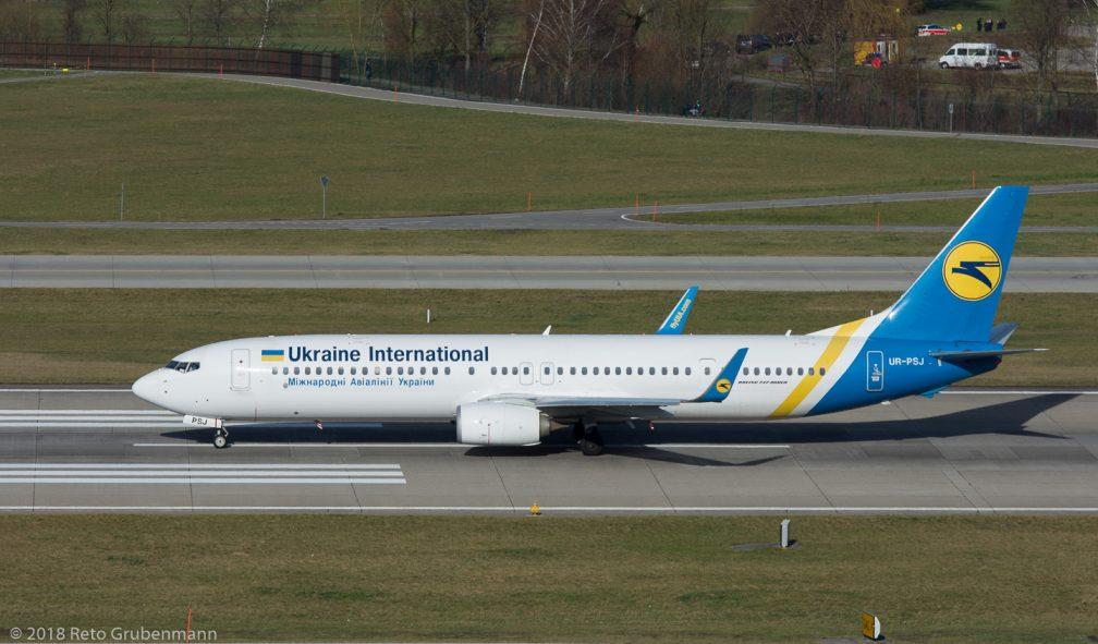 UkraineInternationalAirlines_B739_UR-PSI_ZRH180124