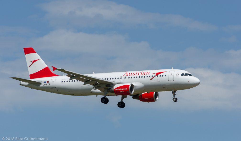 AustrianAirlines_A320_OE-LXA_ZRH180429