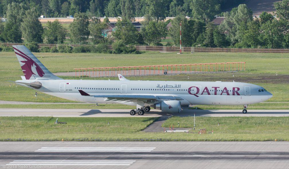 QatarAirways_A333_A7-AEN_ZRH180508