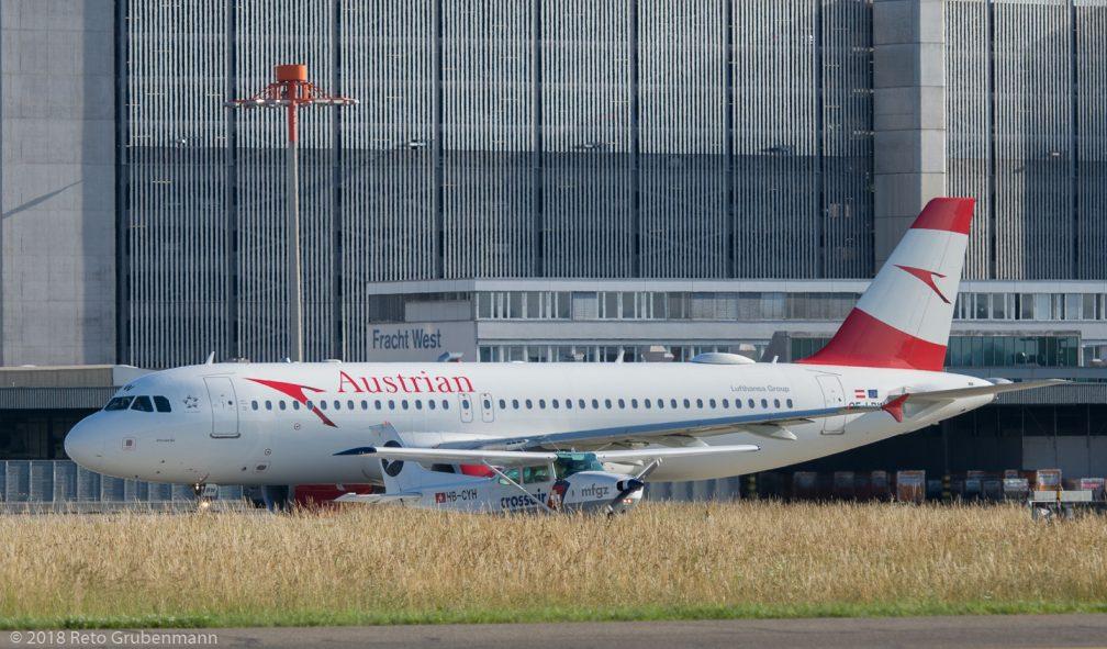 MFGZ_C172_HB-CYH_AustrianAirlines_A320_OE-LBW_ZRH180614