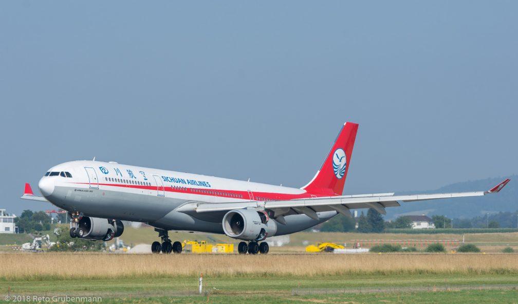 SichuanAirlines_A333_B-5960_ZRH180630