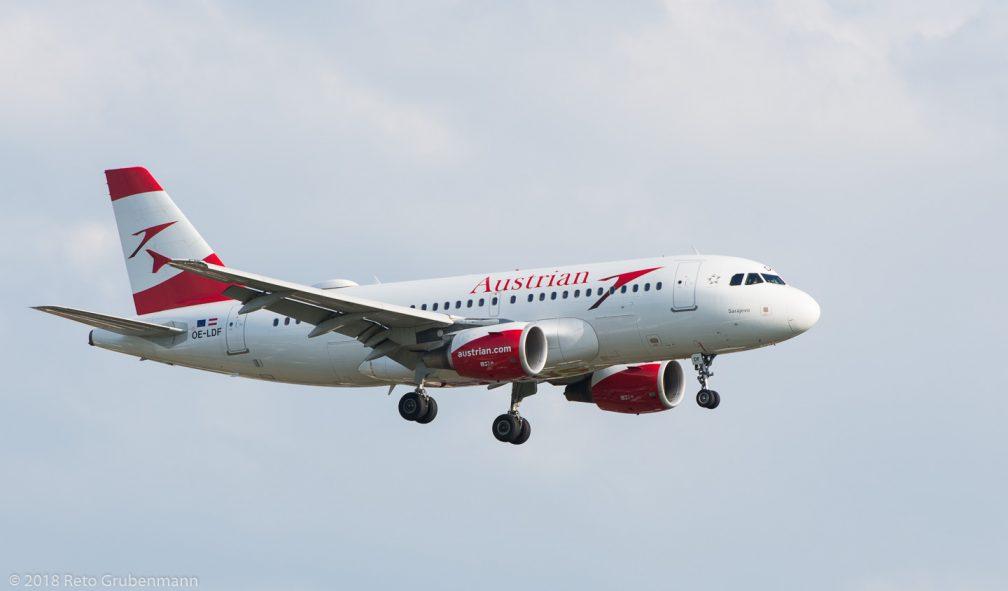 AustrianAirlines_A319_OE-LDF_ZRH180710