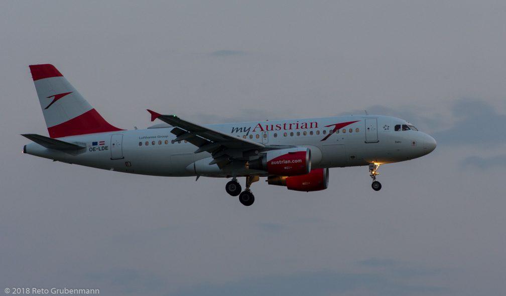 AustrianAirlines_A319_OE-LDE_ZRH180719