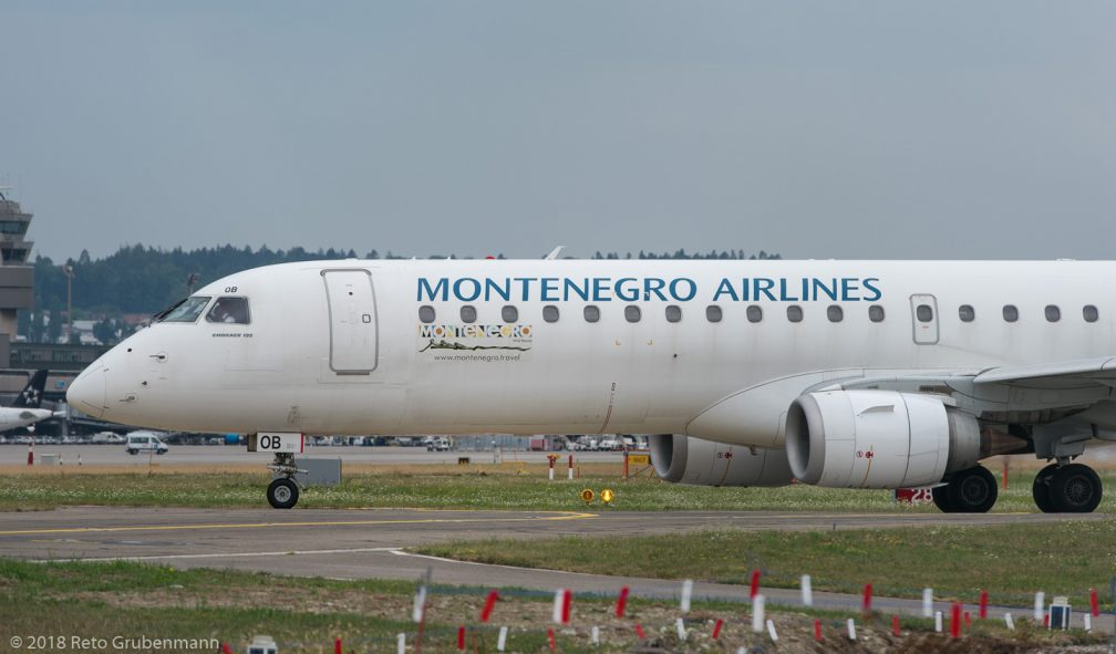 MontenegroAirlines_E190_4O-AOB_ZRH180728