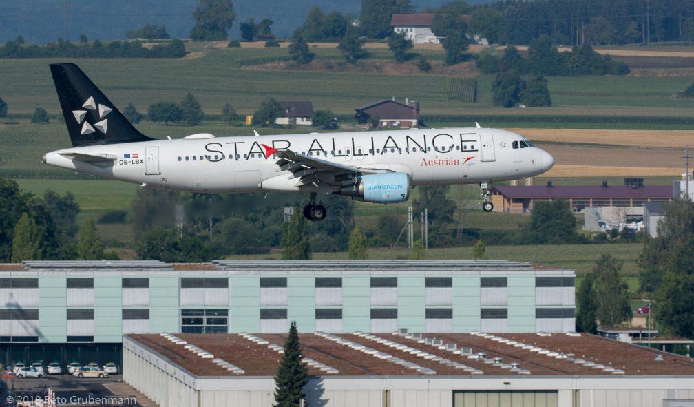 AustrianAirlines_A320_OELBX_ZRH180729