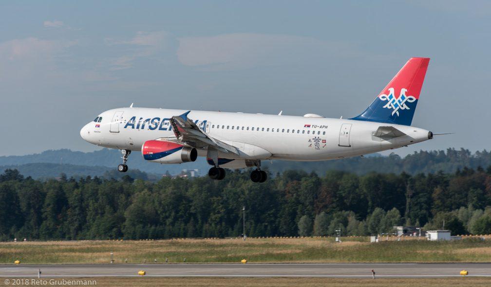 AirSERBIA_A320_YU-APH_ZRH180801