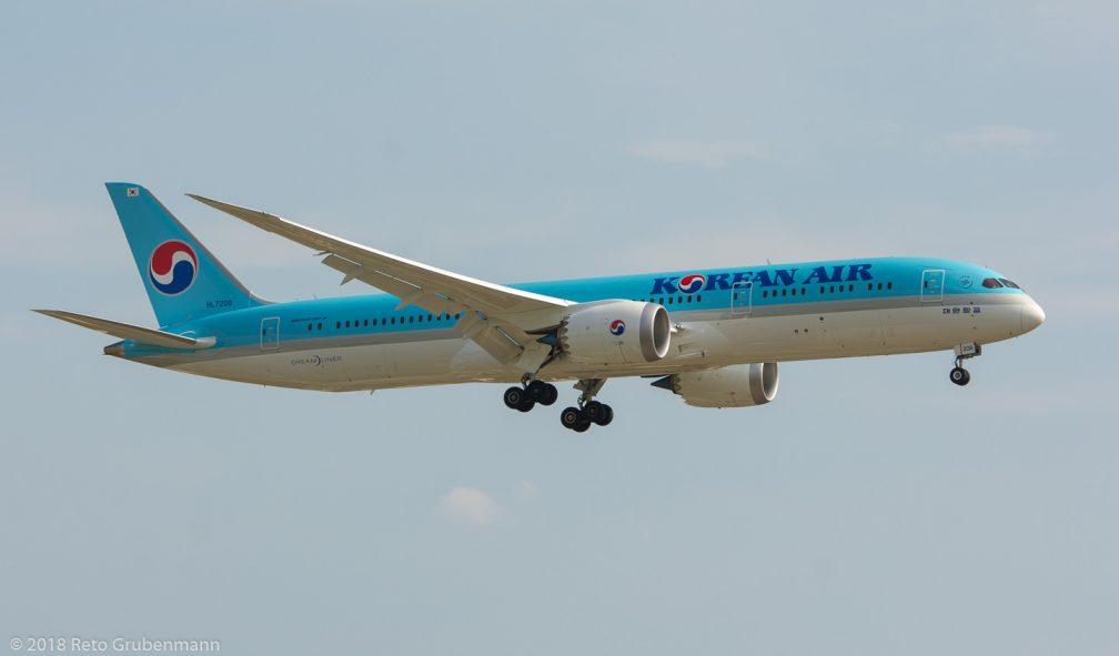 KoreanAir_B789_HL7206_ZRH180804