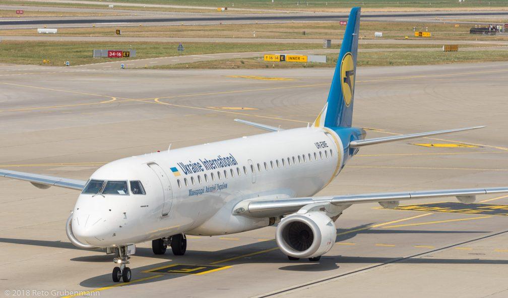 UkraineInternationalAirlines_E190_UR-EME_ZRH180805
